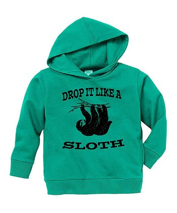 Kelly Green 'Drop It Like a Sloth' Hoodie - Toddler & Boys