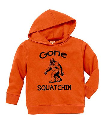 Orange 'Gone Squatchin' Hoodie - Toddler & Boys