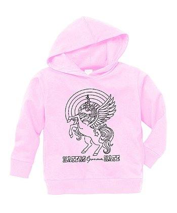 Pink Unicorn 'Haters' Hoodie - Toddler & Girls