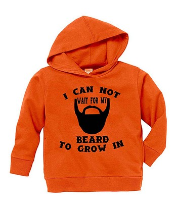 Orange 'Beard' Hoodie - Toddler & Boys