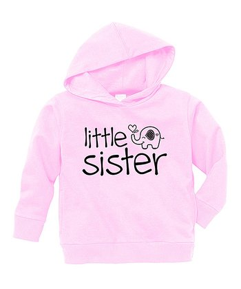 Pink 'Little Sister' Hoodie - Toddler & Girls