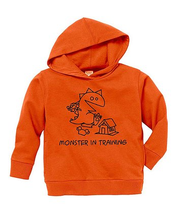 Orange 'Monster in Training' Hoodie - Toddler & Kids
