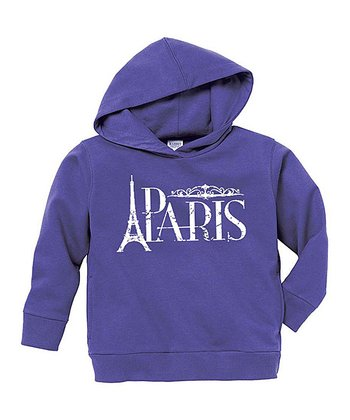 Purple Paris Hoodie - Toddler & Girls