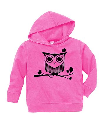 Raspberry Sweet Owl Hoodie - Toddler & Girls