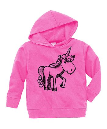 Raspberry Unicorn Hoodie - Toddler & Girls