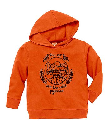 Orange 'Cat's Pajamas' Hoodie - Toddler & Boys