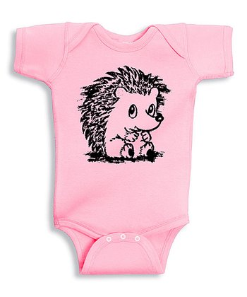 Pink Baby Hedgehog Bodysuit - Infant