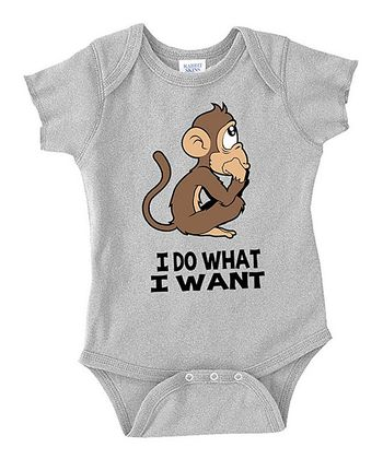 Gray 'I Do What I Want' Bodysuit - Infant