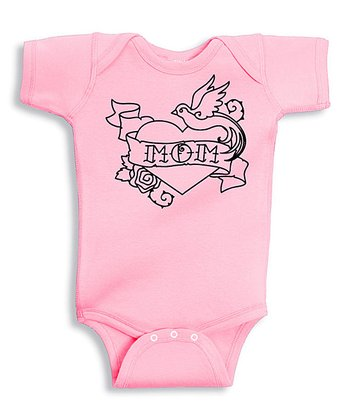 Pink 'Mom' Love Bodysuit - Infant