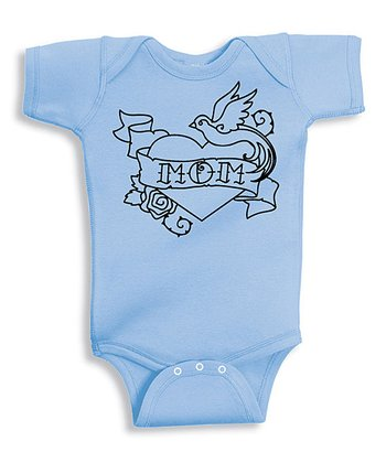 Baby Blue 'Mom' Love Bodysuit