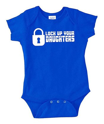 Royal Blue 'Lock Up Your Daughters' Bodysuit - Infant