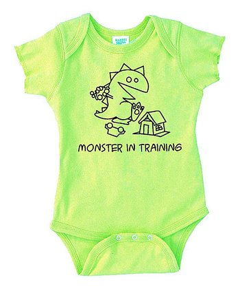 Key Lime 'Monster in Training' Bodysuit - Infant