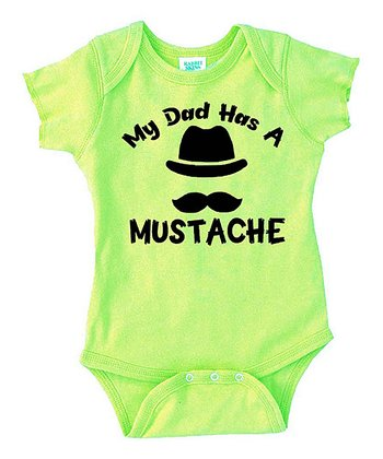 Key Lime 'Mustache' Bodysuit - Infant