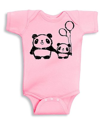 Pink Panda Love Bodysuit - Infant