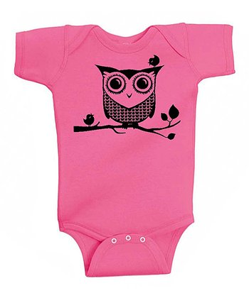 Raspberry Sweet Owl Bodysuit - Infant