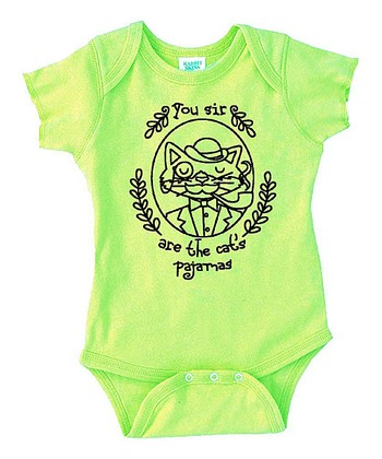 Key Lime 'Cat's Pajamas' Bodysuit - Infant