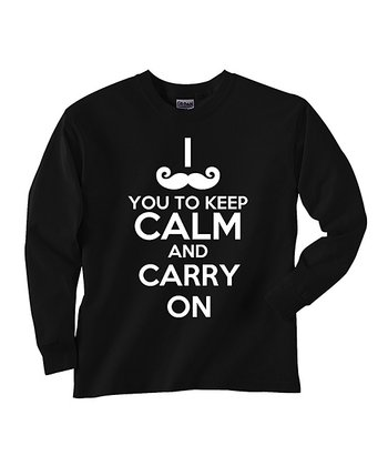 Black 'Keep Calm' Tee - Toddler & Boys
