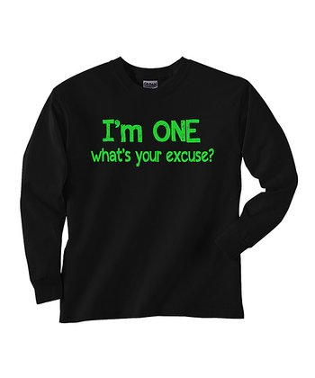 Black 'I'm One' Tee - Toddler & Kids