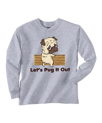 Gray 'Pug It Out' Tee - Toddler & Kids