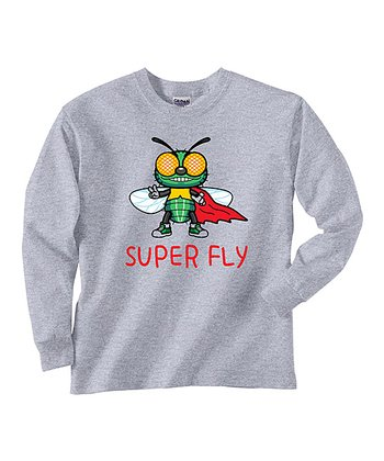 Gray 'Super Fly' Tee - Toddler & Boys