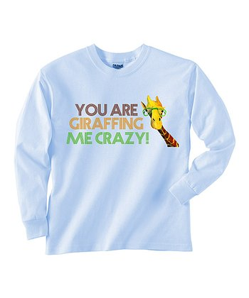 Baby Blue 'Giraffing Me Crazy' Tee - Toddler & Boys