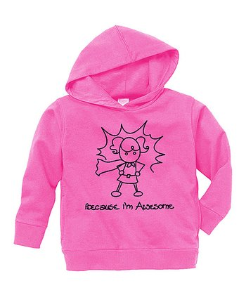 Raspberry 'Awesome' Hoodie - Toddler & Girls