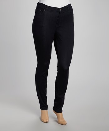 Black Straight-Leg Jeans - Plus
