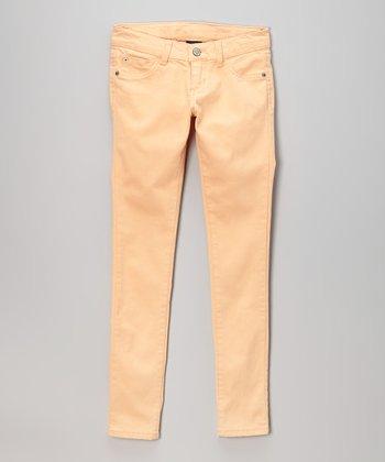 Pink Hearts Honeydew Skinny Jeans
