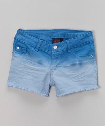 Pink Hearts Bay Blue Ombré Shorts