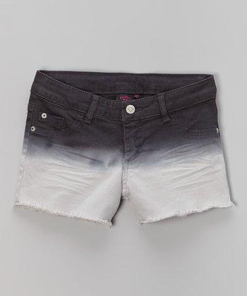 Pink Hearts Black Ombré Shorts