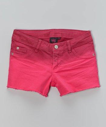 Pink Hearts Fuschia Ombré Shorts