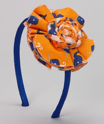 Orange & Blue Whale Headband