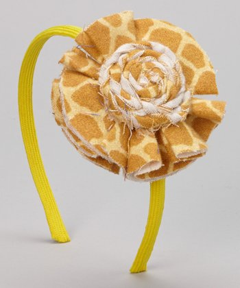 Yellow Giraffe Headband
