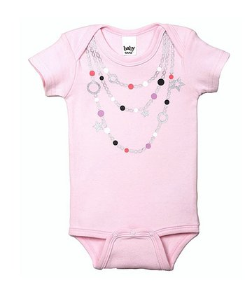 GANZ Pink Star Bead Necklace Bodysuit