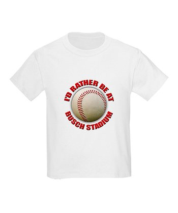 White 'I'd Rather Be at Busch Stadium' Tee - Kids