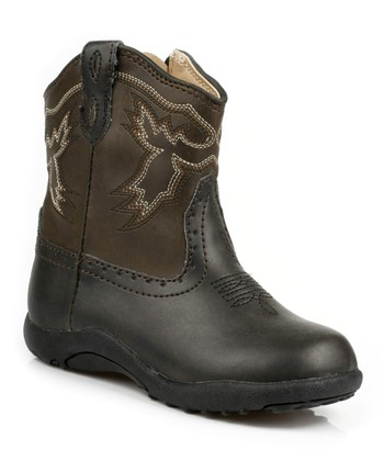 Black & Brown Stitch Boot