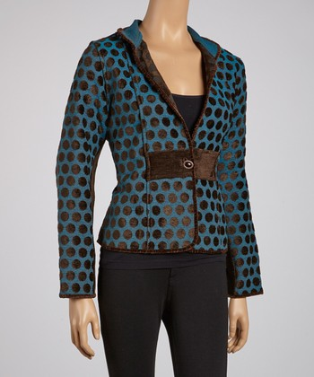 Cocoa Dots Reversible Jacket