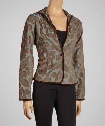 Tan Equestrian Reversible Jacket