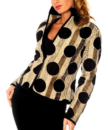 Black Polka Dot Reversible Jacket