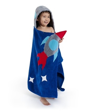 Blue Space Hero Hooded Towel