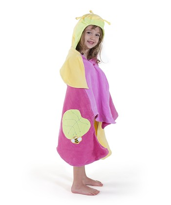 Pale Yellow Lotus Hooded Towel