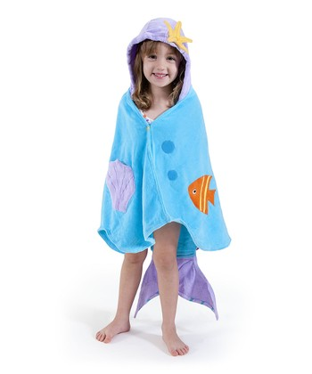Blue Mermaid Hooded Towel