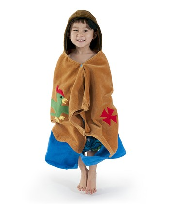 Brown Pirate Hooded Towel