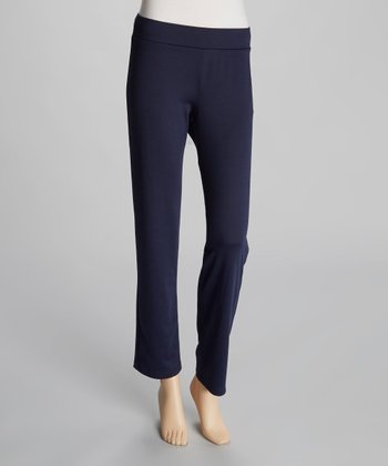 Indigo Straight-Leg Pants