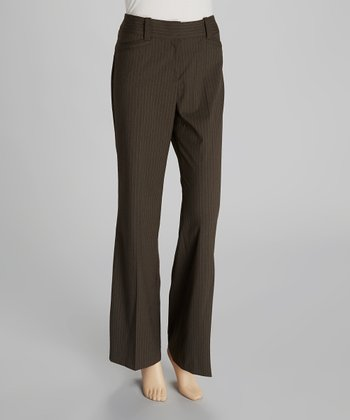 Tobacco & Cream Pinstripe Pants