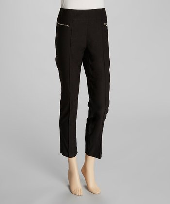 Black Millennium Zipper Cropped Pants
