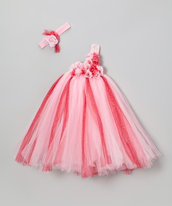 Pink & Hot Pink Tutu Dress & Headband - Infant, Toddler & Girls