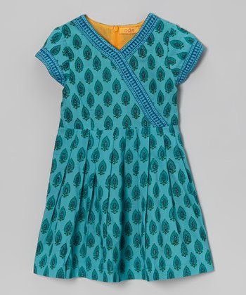 Aqua Julia Surplice Dress - Toddler & Girls