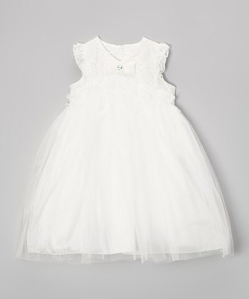 Ivory Tulle Babydoll Dress - Infant