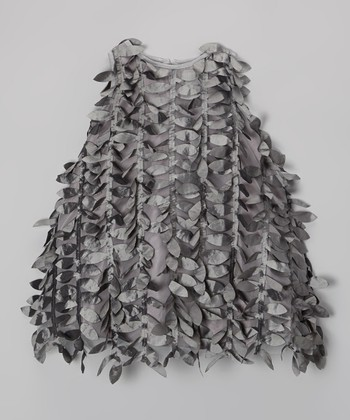 Silver Petal Swing Dress - Girls